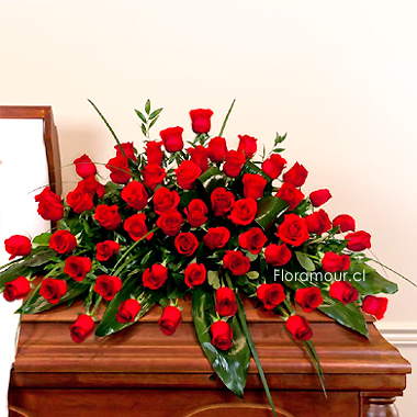 Ovalo de Rosas Rojas
