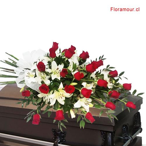 Ramo de Rosas y Liliums de Condolencias