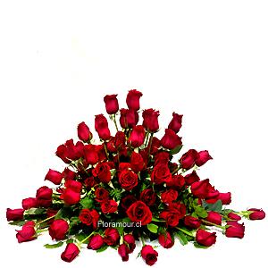 Spray de rosas Sicilia - Cojin Funebre de Lujo