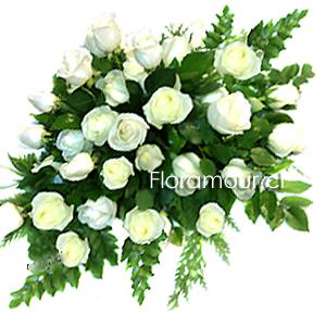 Cojin de Rosas Blancas