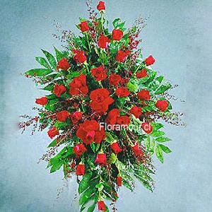 Arreglo floral condolencias - Ovalo Fúnebre
